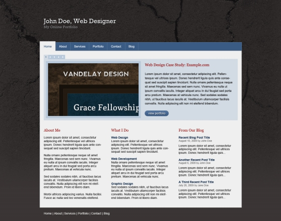 Cracked Portfolio PSD