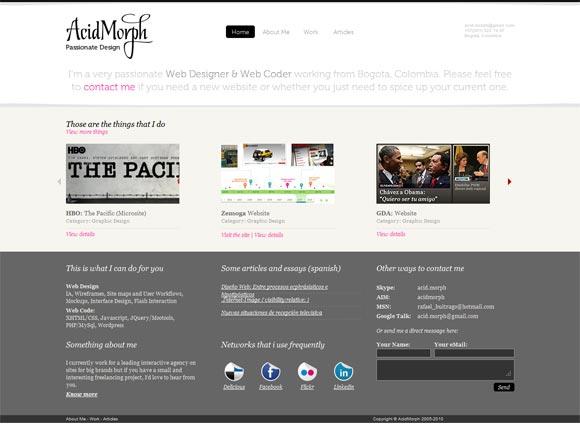 AcidMorph   Web Design