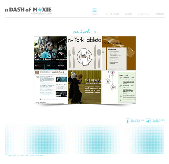 A Dash of Moxie | Web Design