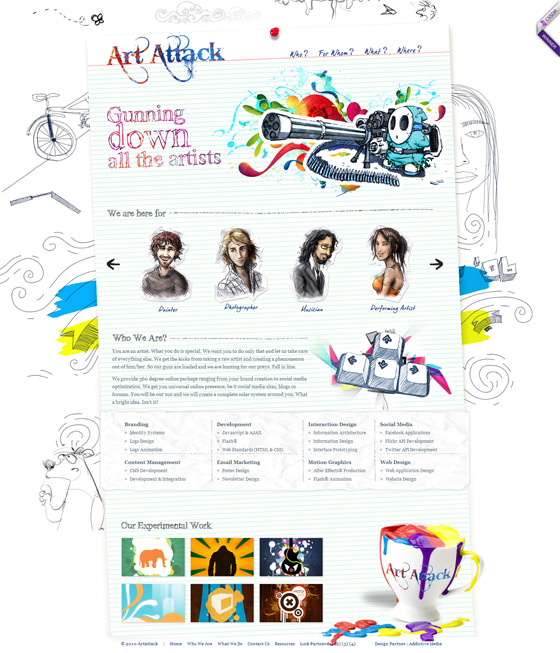 Art Attack | Web Designers