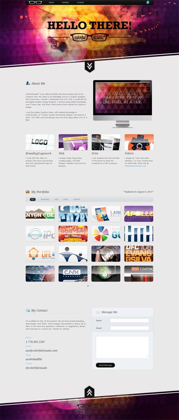 Colorful Visuals | Designer *Redesign*