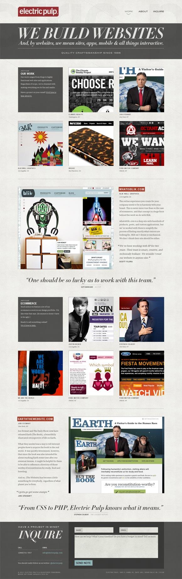 Electric Pulp | Web Design