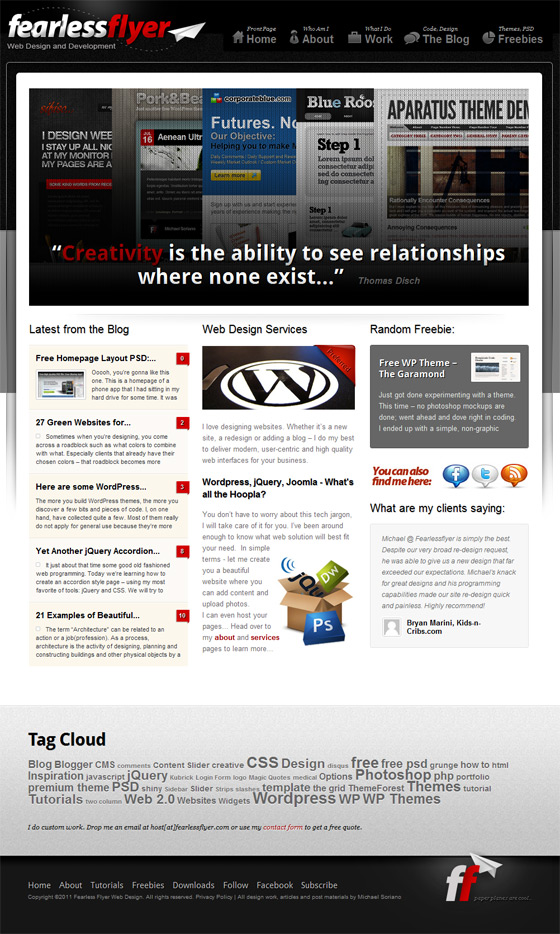 Fearless Flyer | Web Design