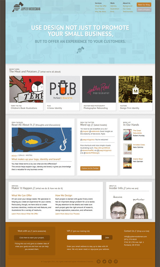 Jupiter Woodsman   Web Design