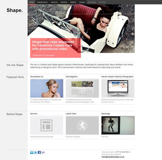 Shape | Web Design