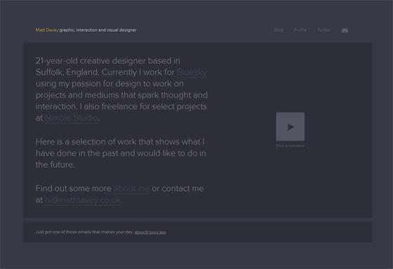 Matt Davey | Web Designer