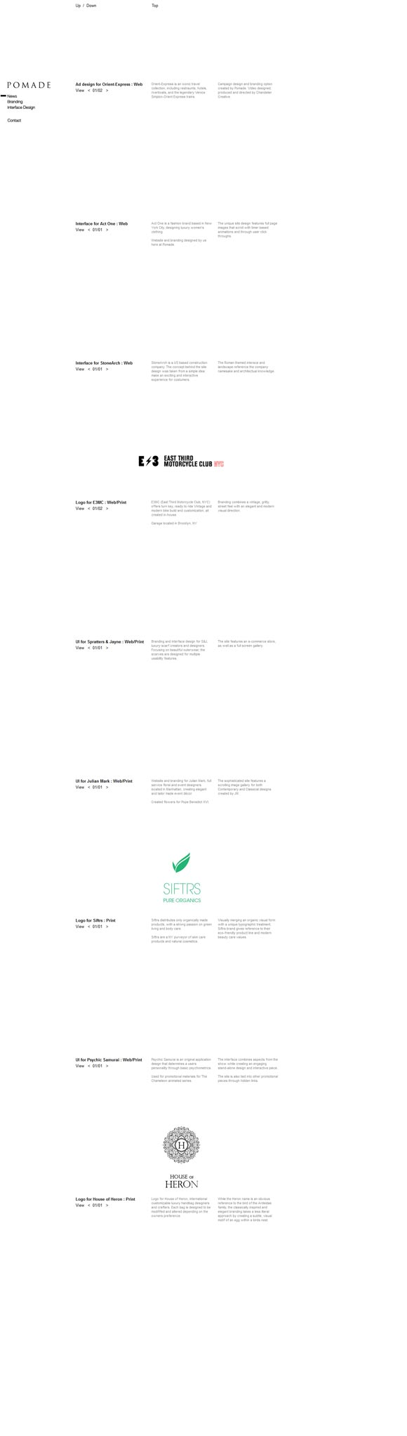 Pomade | Design