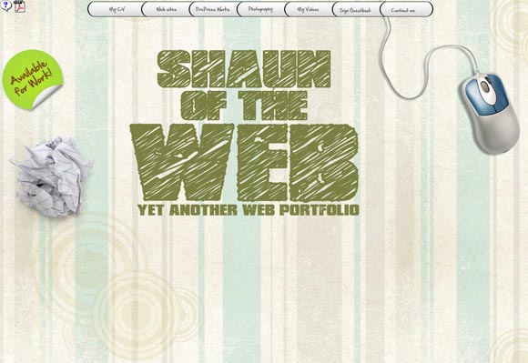 Shaun of the Web | Web Design
