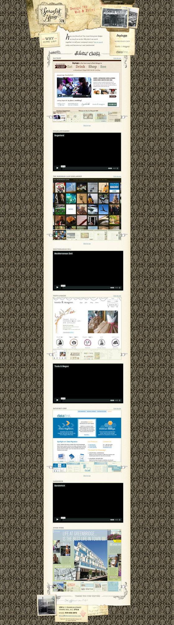 Sprocket House | Web Design