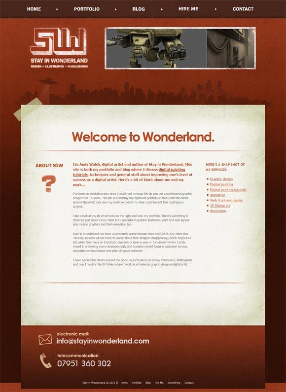 Stay in Wonderland   Design