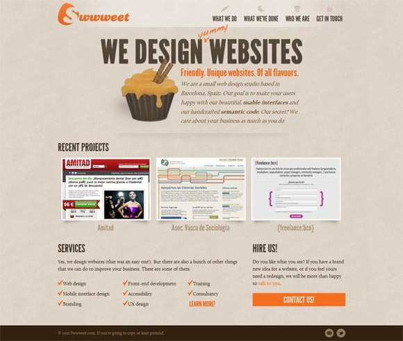 Swwweet | Web Design