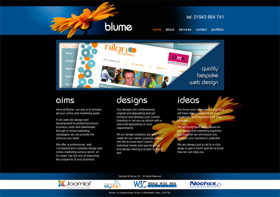 Blume | Web Design