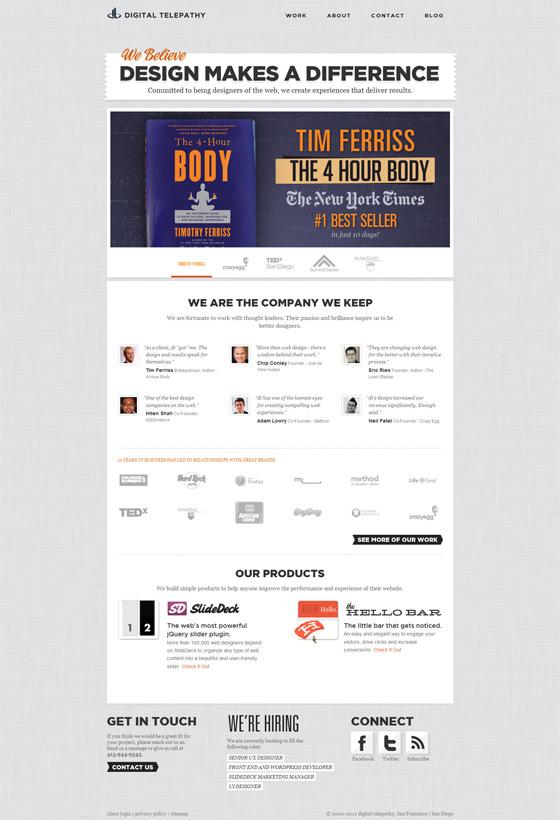 Digital Telepathy | Web Design