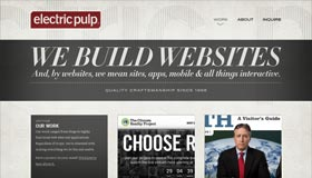 Electric Pulp | Web Design