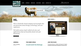 No Sleep for Sheep | Web Design