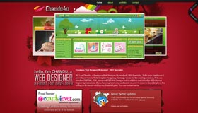 Chandu4u | Web Designer *Redesign*