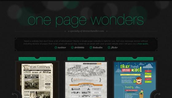One Page Wonders