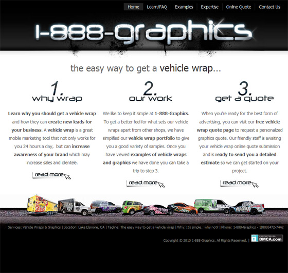 1-888-Graphics | Vehicle Wraps