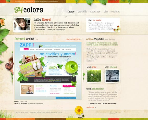84 Colors | Web Designer