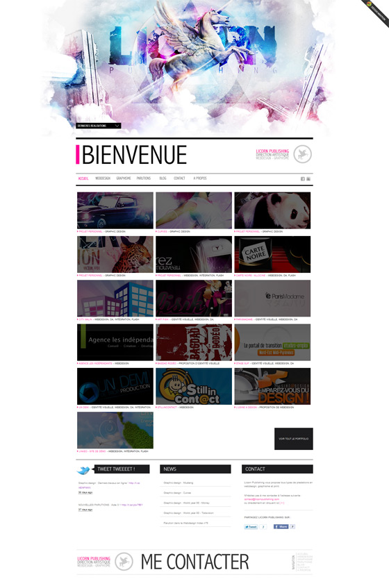 Licorn Publishing | Web Design