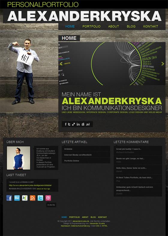 ALEXANDERKRYSKA | Web Designer
