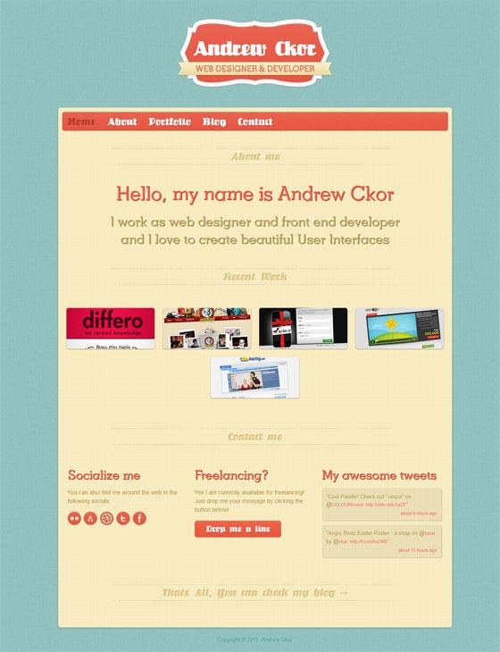 Andrew Ckor | Web Designer