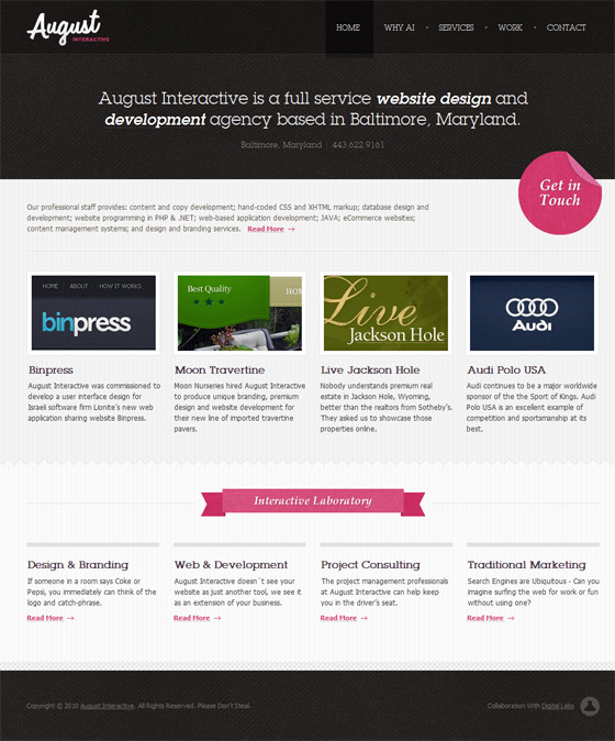 August Interactive | Web Design