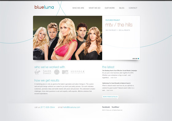 Blue Luna | Boston Web Design