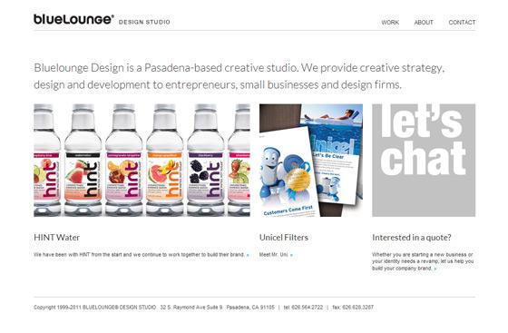 Bluelounge Design   Web Design