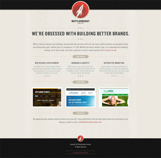 Bottlerocket  Creative | Web Design