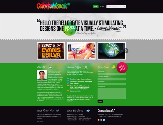 Colorful Visuals | Web Design