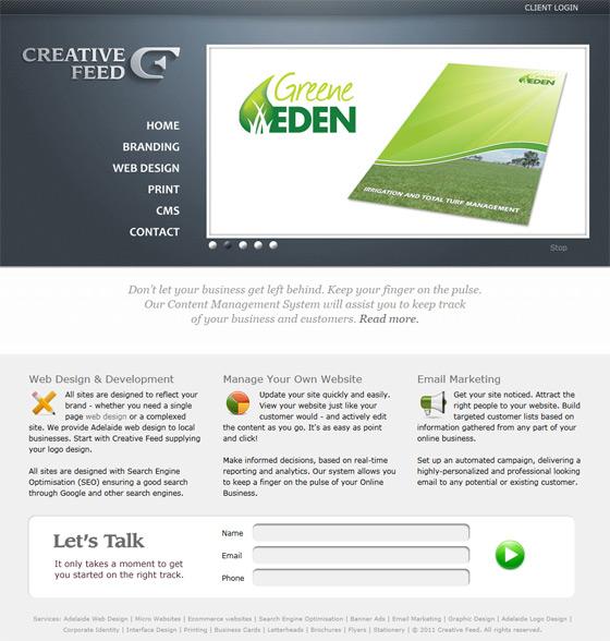 Creative Feed | Web Design