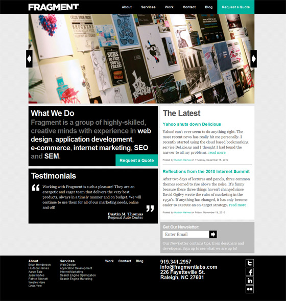 FRAGMENT Web Design