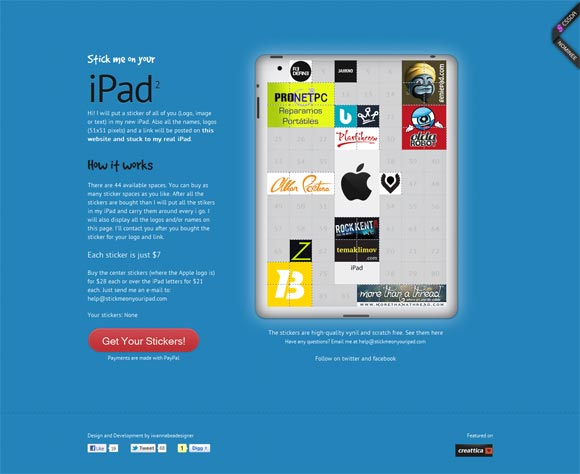 Stick Me On Your iPad