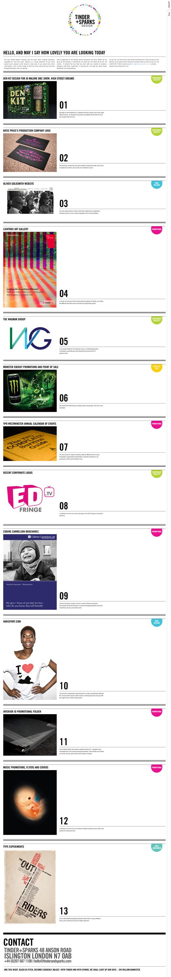 Tinder + Sparks | Web Design