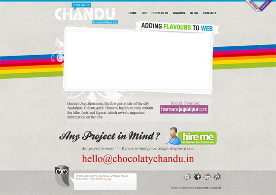 Chocolaty Chandu | Web Designer